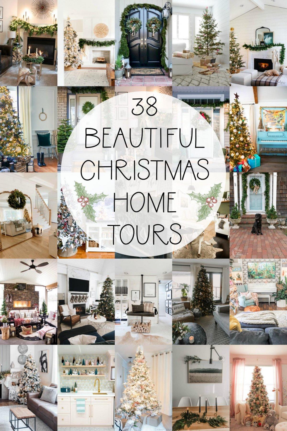 38 beautiful christmas home tours!