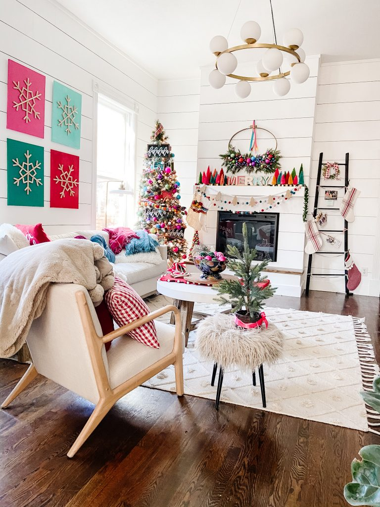 Colorful Merry Mantel