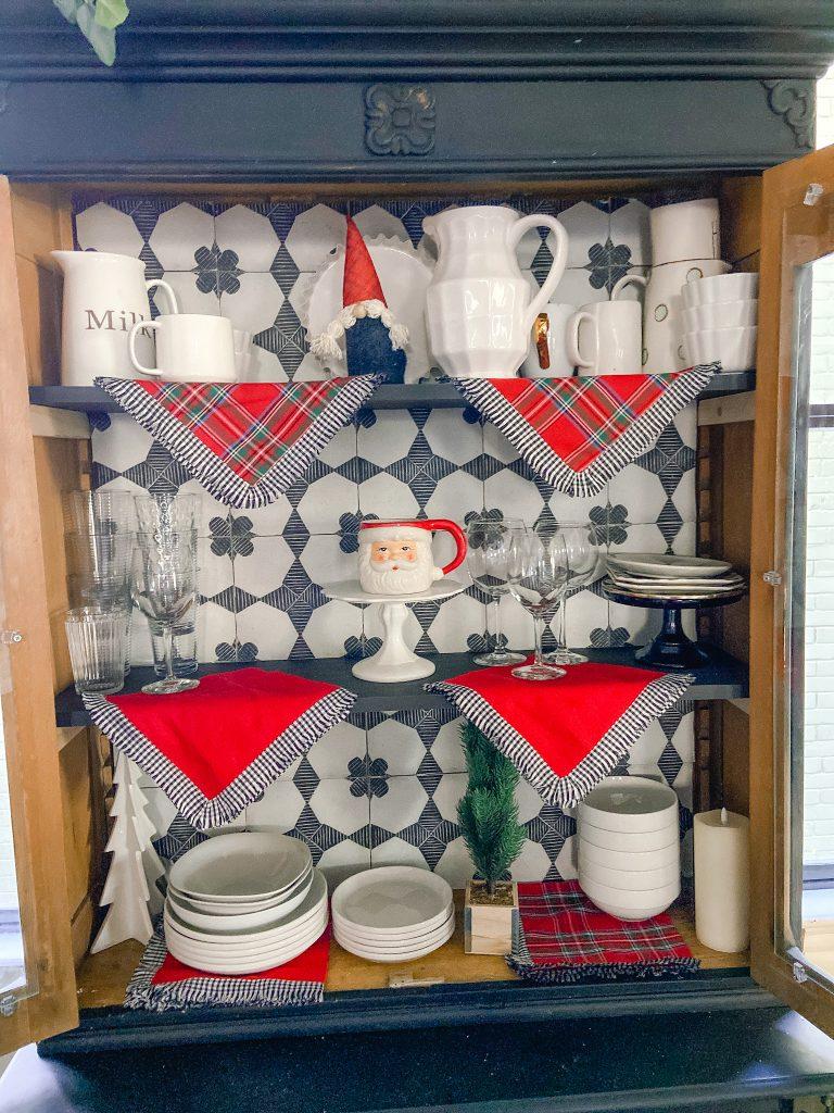 vintage tile cabinet makeover