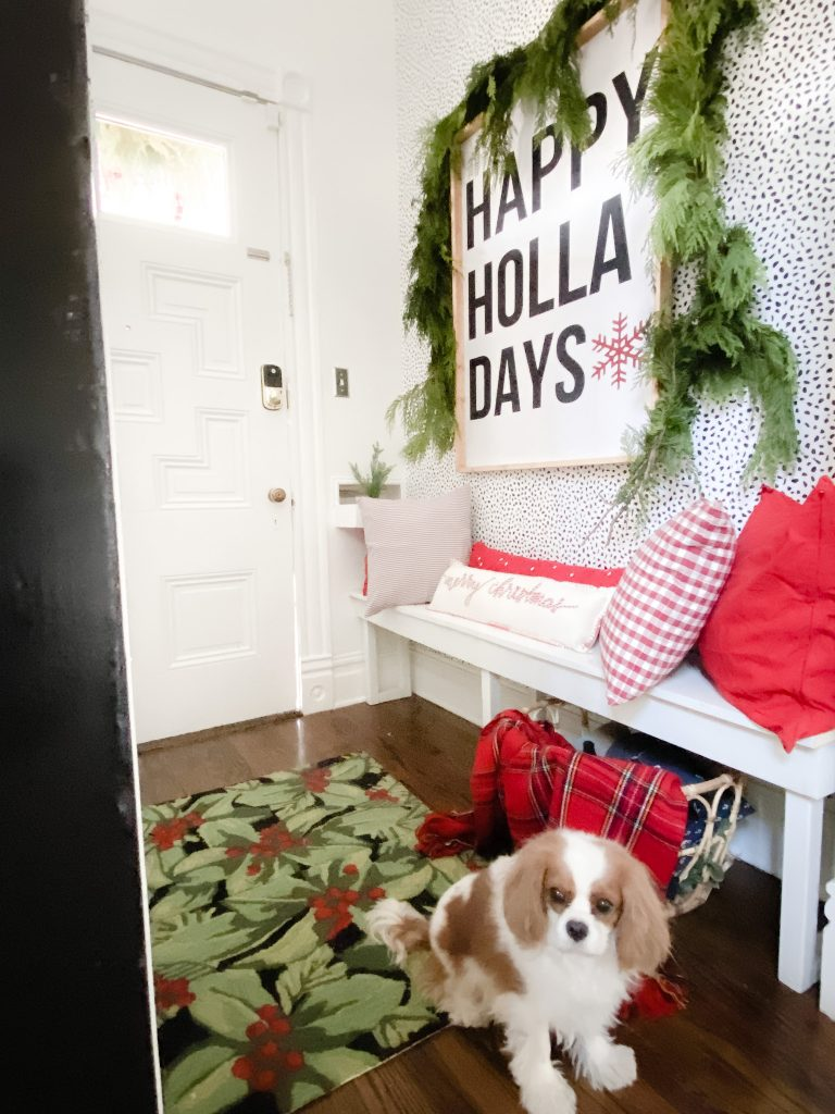 holiday cottage entryway