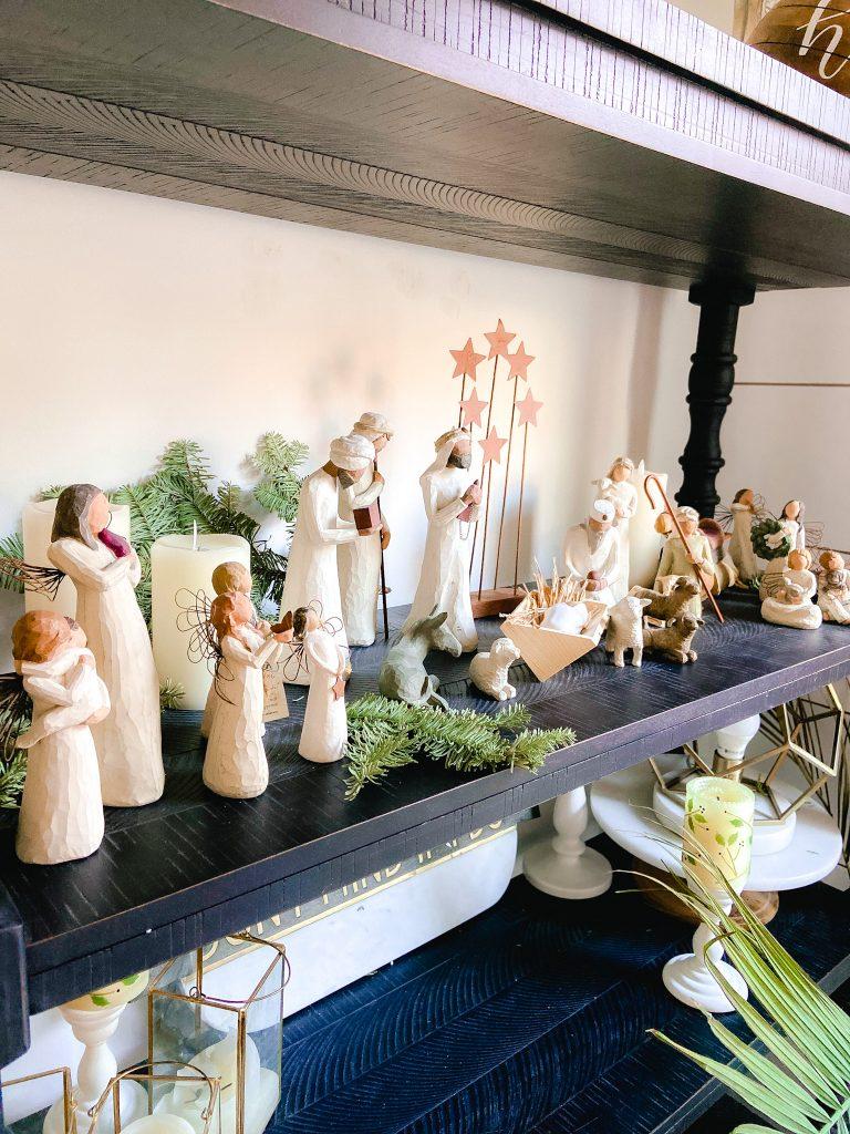 cottage nativity scene