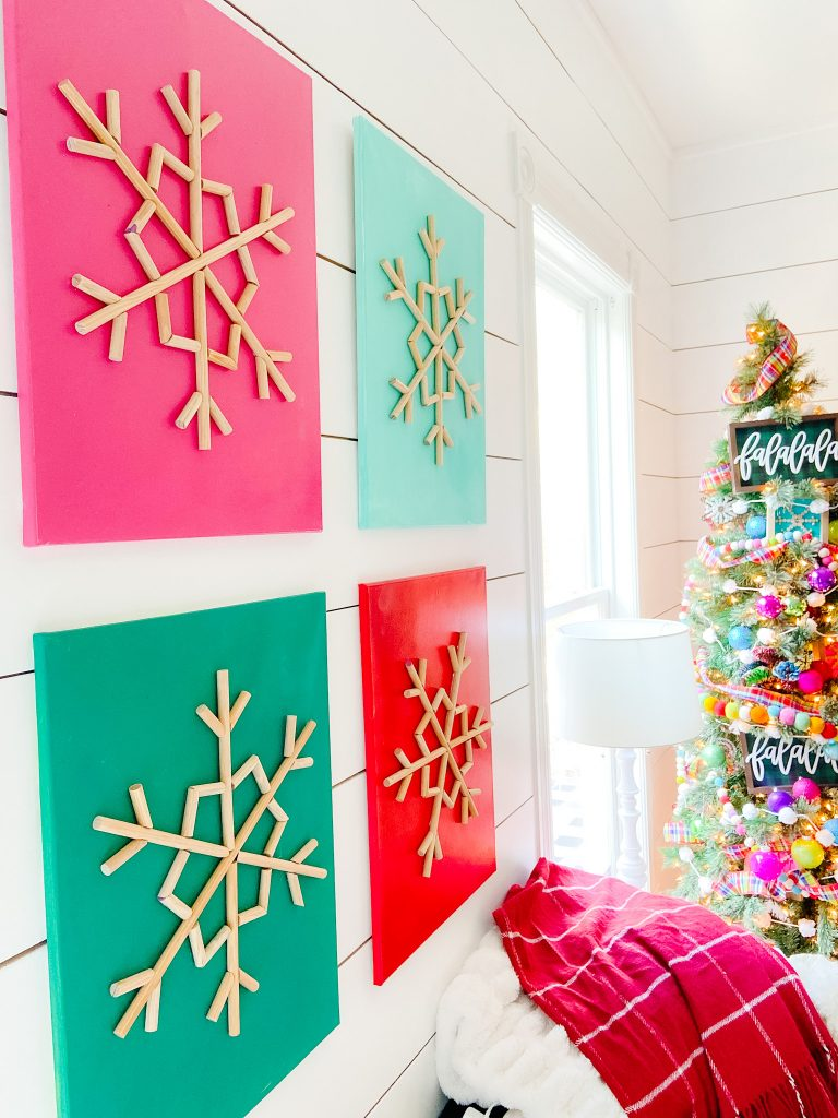 DIY wood snowflake art