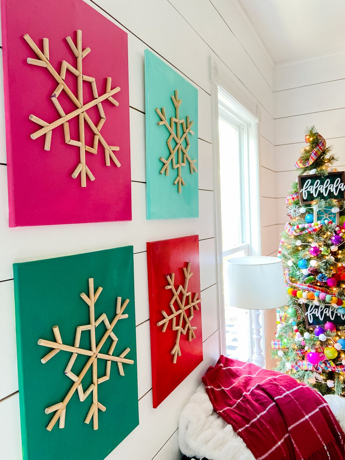 wooded snowflake art