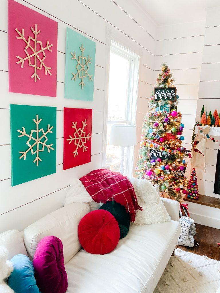 DIY cottage holiday art