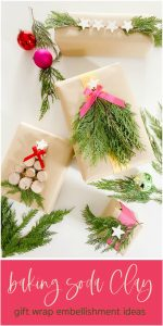 Baking Soda Clay Gift Wrap Embellishment DIY