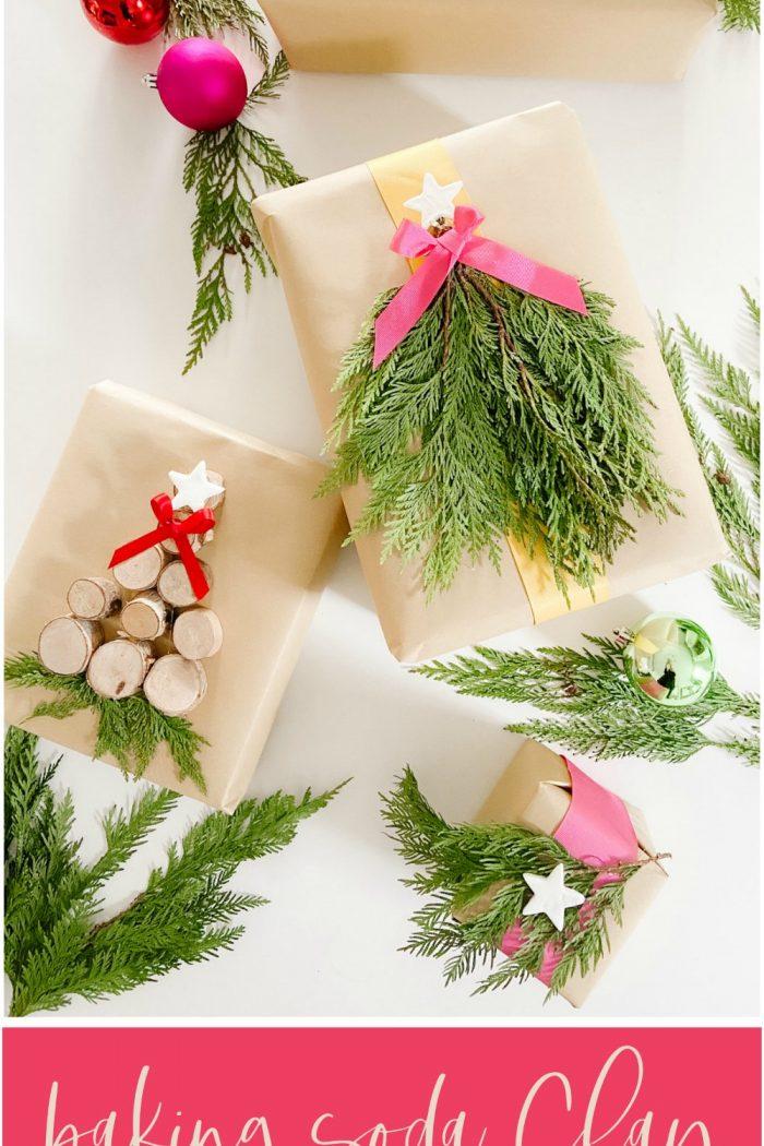Baking Soda Clay Gift Wrap Embellishment DIY
