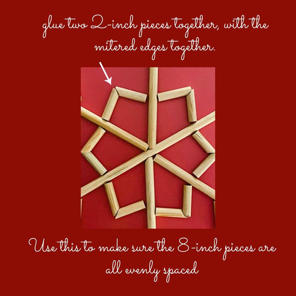 DIY Wood Snowflake Art. Turn simple wood dowels and plain canvases into beautiful Winter snowflake art.