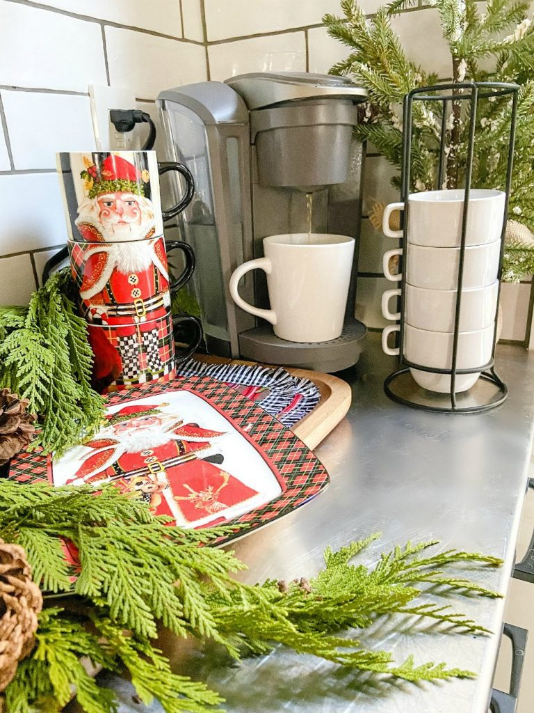 make a hot coca station with mackenzie-childs.