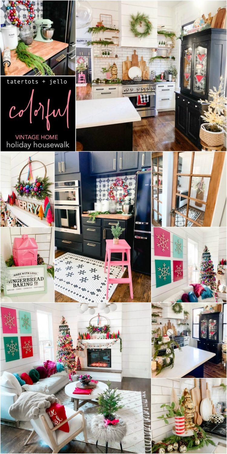 tatertots and jello holiday home tour colorful vintage home