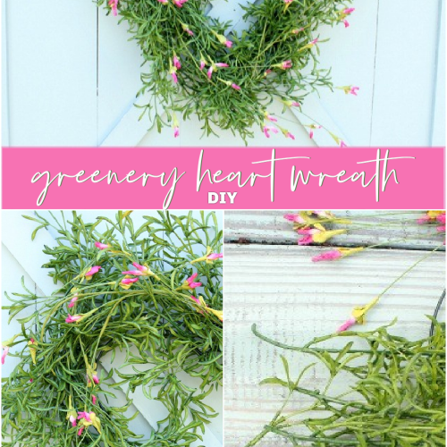 DIY Greenery Heart Wreath Valentine's Day