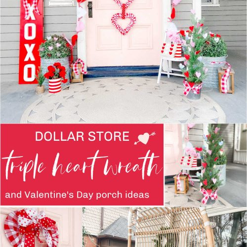 Dollar Store Triple Heart Wreath