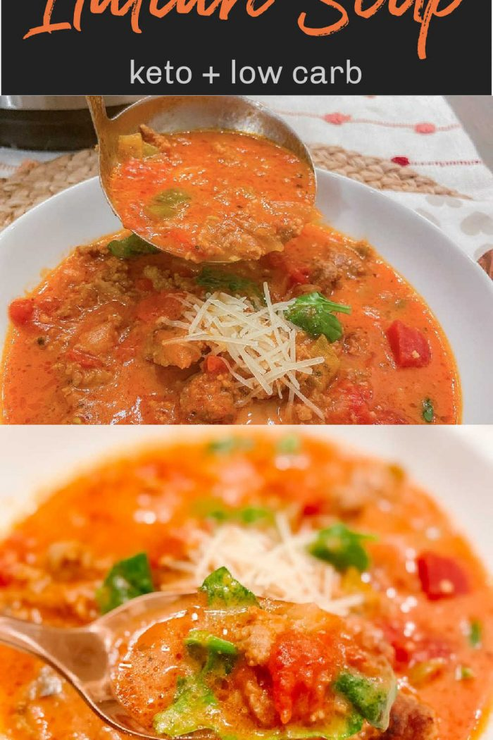 Keto Instant Pot Spicy Italian Soup