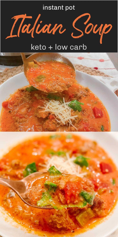 Keto Instant Pot Spicy Italian Sausage Soup