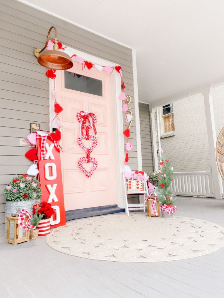 Dollar Store Triple Heart Valentine's Day Wreath. Brighten up February with an inexpensive triple dollar store heart wreath.