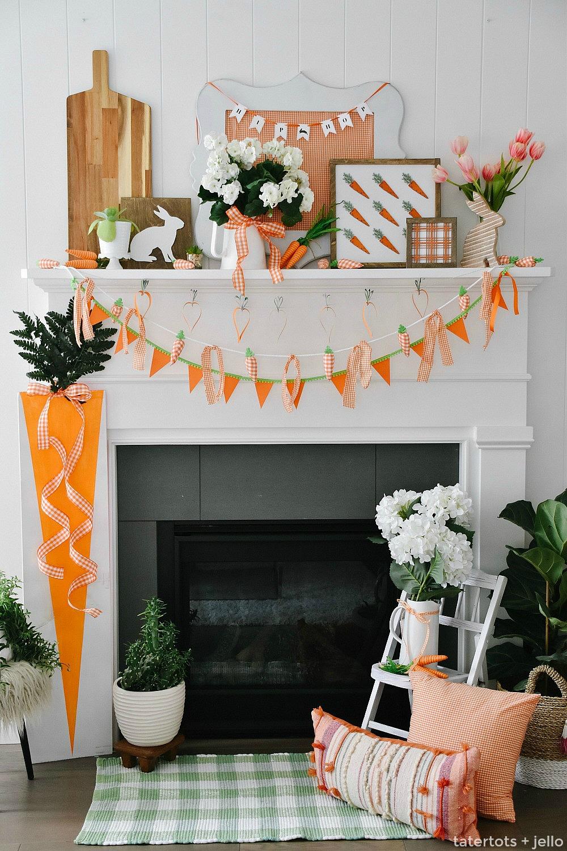 Carrot Mantel Ideas at Tatertots and Jello