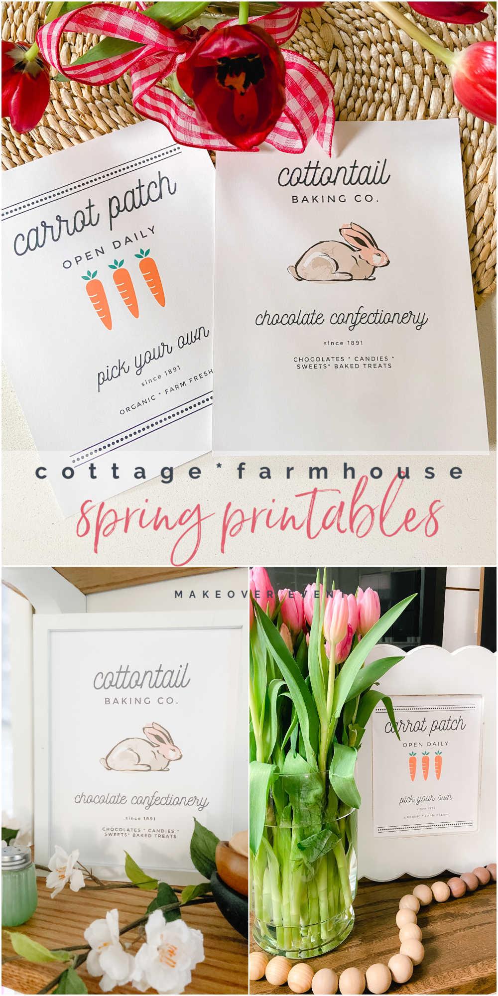 Free Cottage Farmhouse Spring Printables