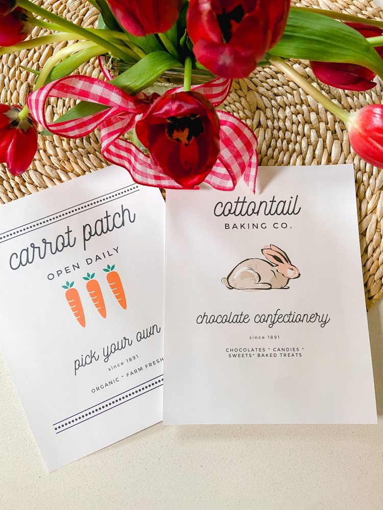 two free easter printables