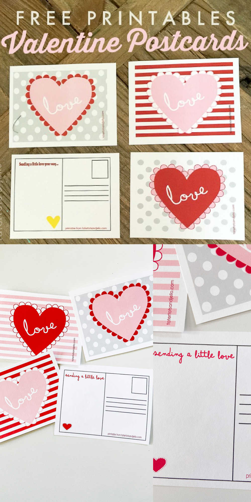 Adorable Valentine Postcards - Free Printables! Brighten up someone's day with a sweet postcard sharing why they are important to you!