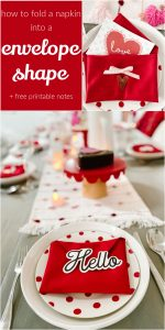 Valentine's Day  Envelope Napkins