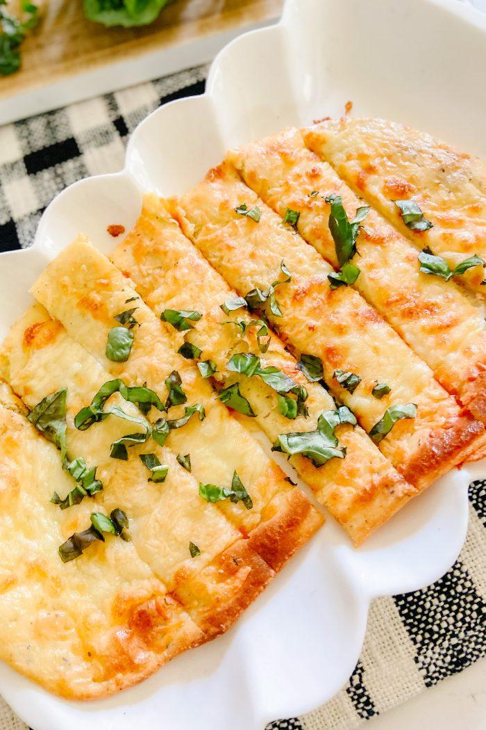 The Easiest Cheesiest Keto Breadsticks