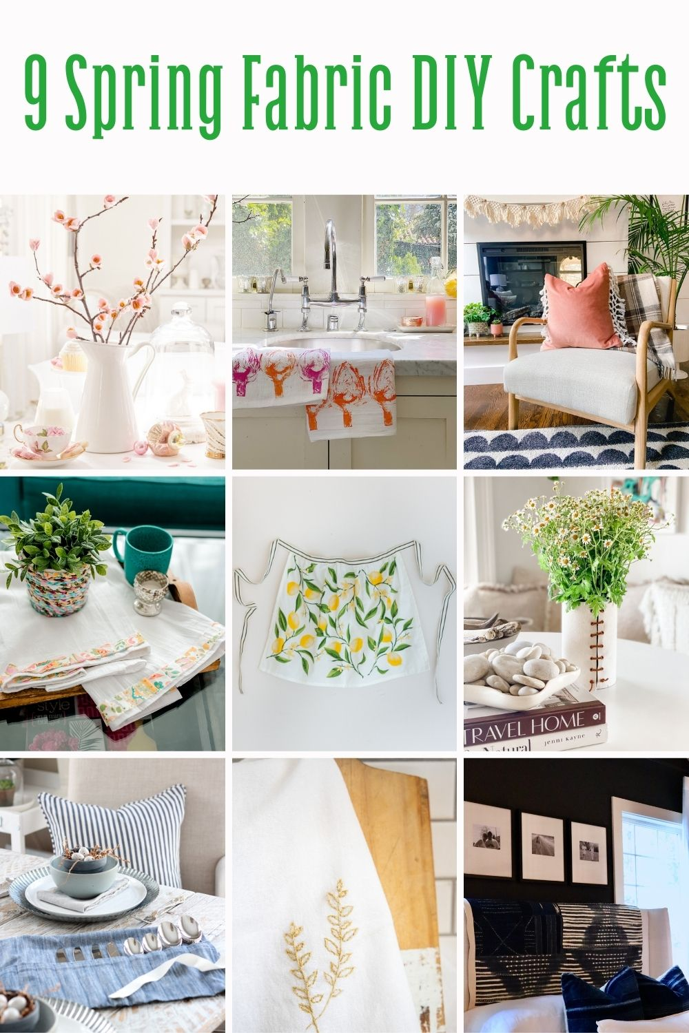 9 pretty Spring fabric DIY's to make today!
