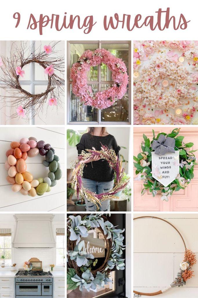 NINE gorgeous Spring wreaths to make!