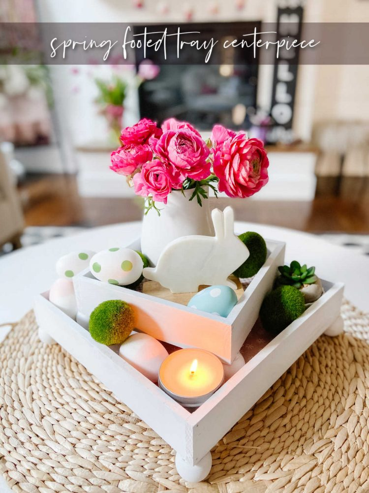 DIY Stacking Footed Spring Centerpiece