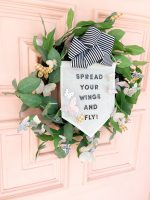Spring Butterfly Pennant Wreath and Porch!