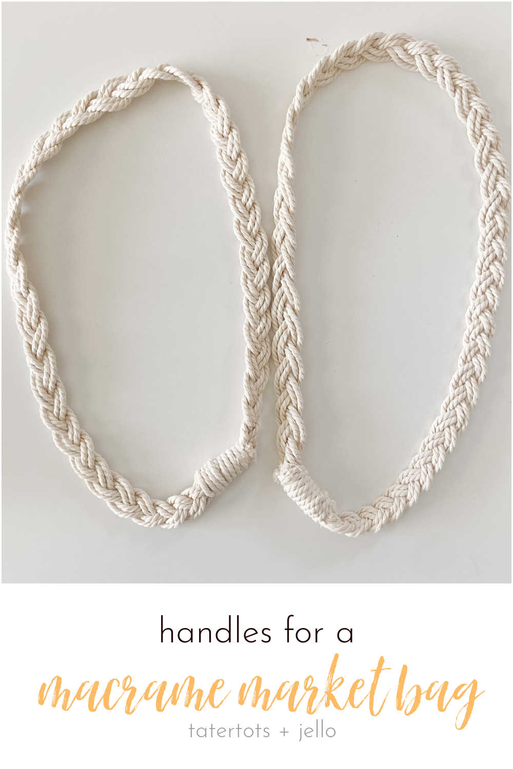 How to make the handles for a macrame market bag