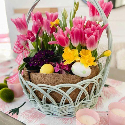 Easter Basket Living Centerpiece