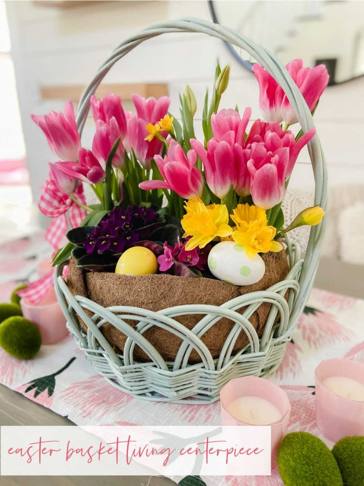 Easter Basket Living Centerpiece