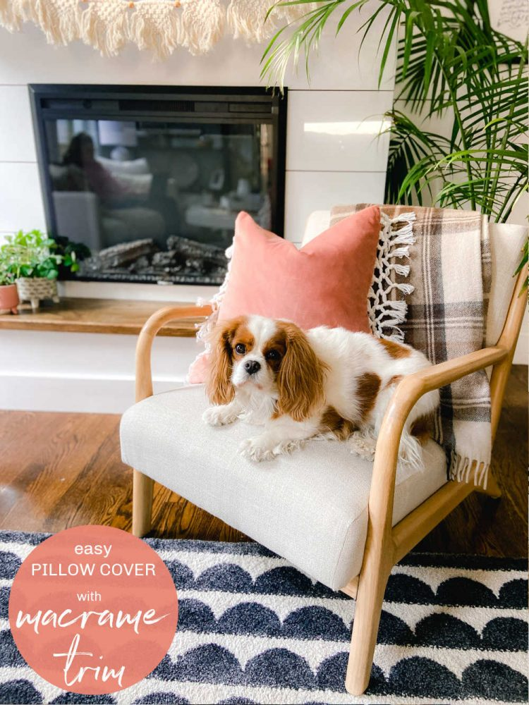 How to make a macrame fringe pillow cover