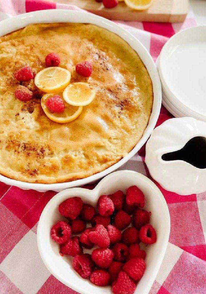 Lemon Berry Keto Dutch Baby Pancake