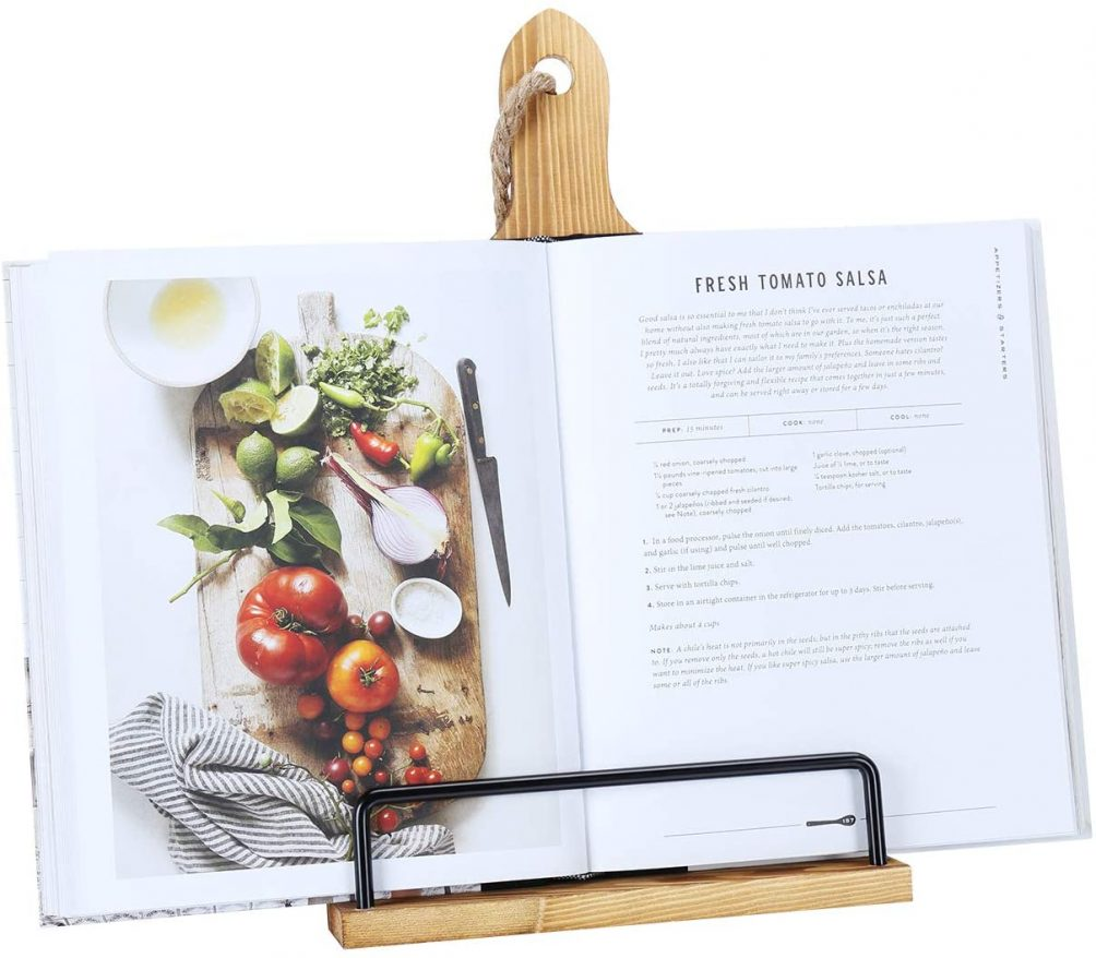 Wood Cookbook Holder for the foodie or chef in your life.