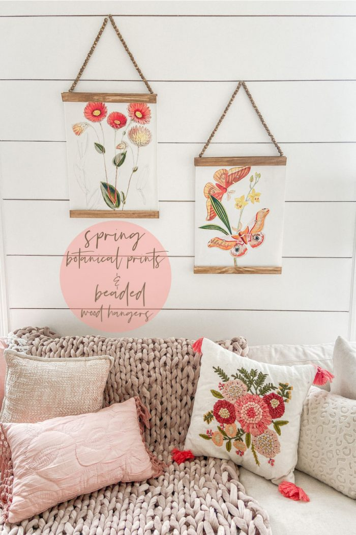 Spring Botanical Prints with Beaded Hangers
