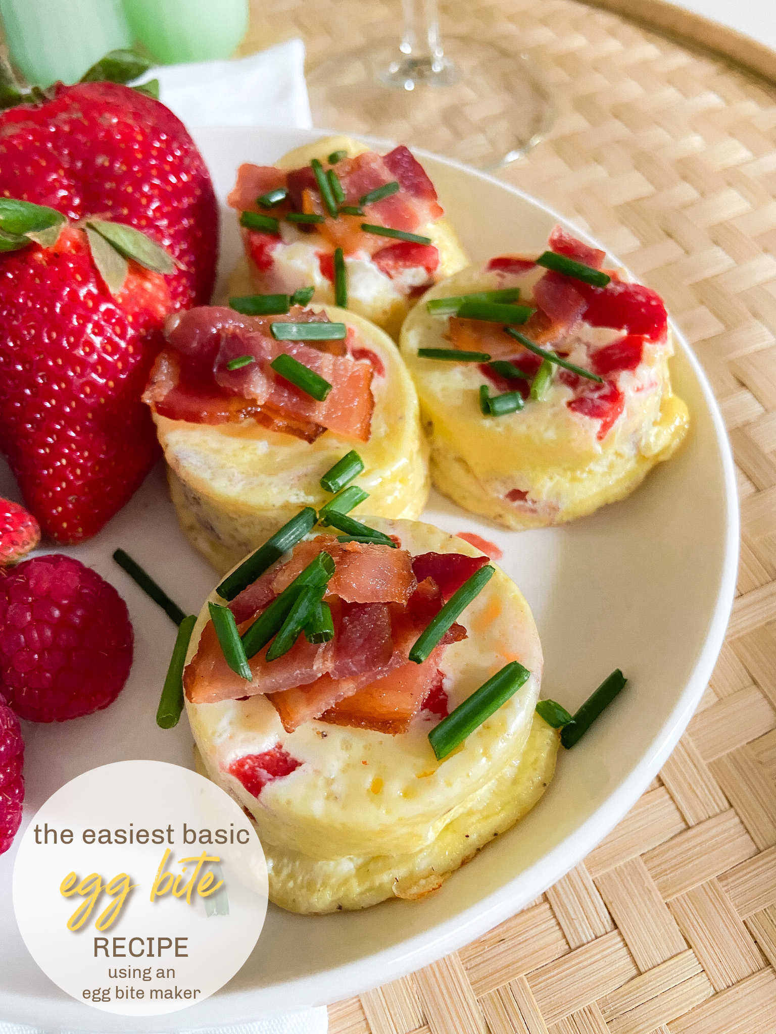 Bacon and Red Pepper Egg Bites. Egg bites are perfect for breakfast or anytime. You can make your own in no time with this easy low carb, protein filled recipe using an Egg Bite Maker.