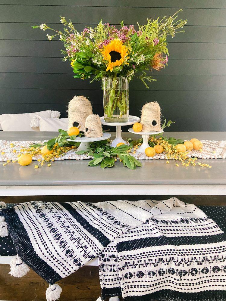 Summer flower arrangement