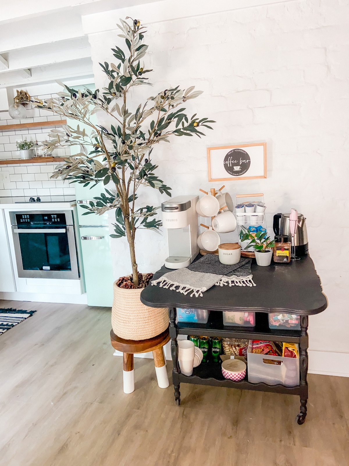 Airbnb Coffee Cart Upcycle