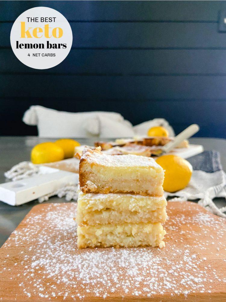 The Best Keto Low-Carb Lemon Bars!