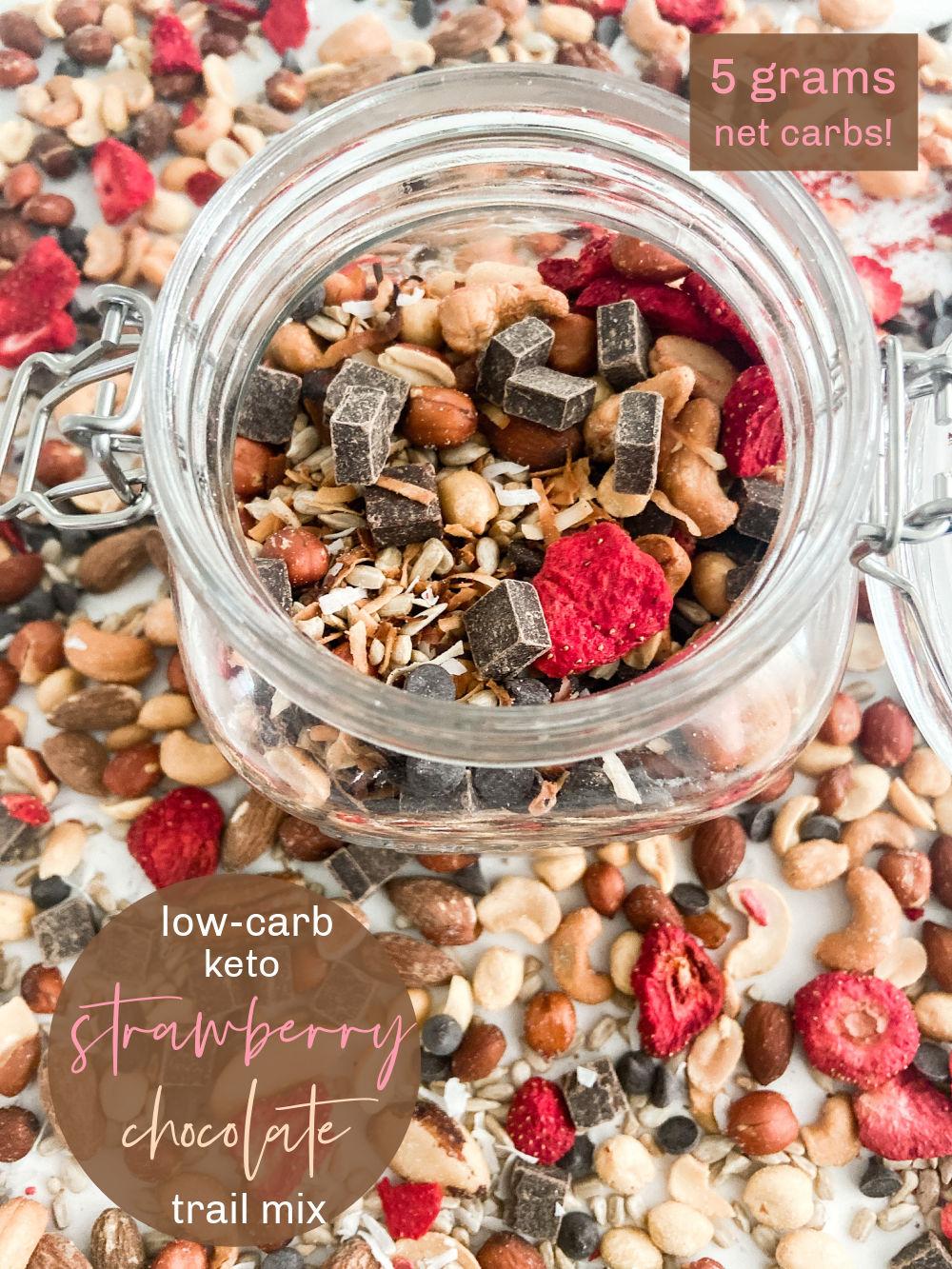 Low Carb Keto Strawberry Chocolate Trail Mix