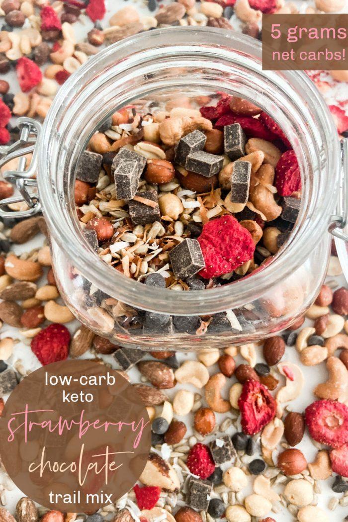 Strawberry Chocolate Keto Trail Mix