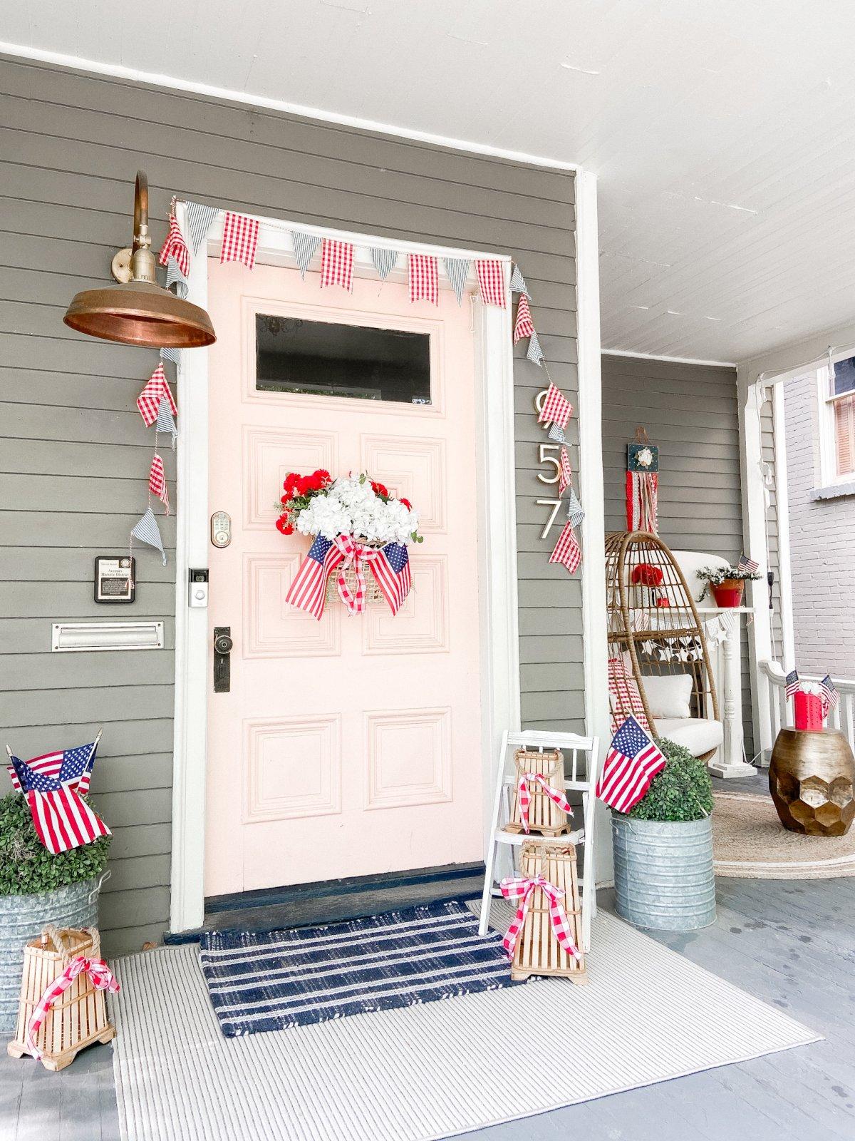 Summer Patriotic Door and Porch Ideas