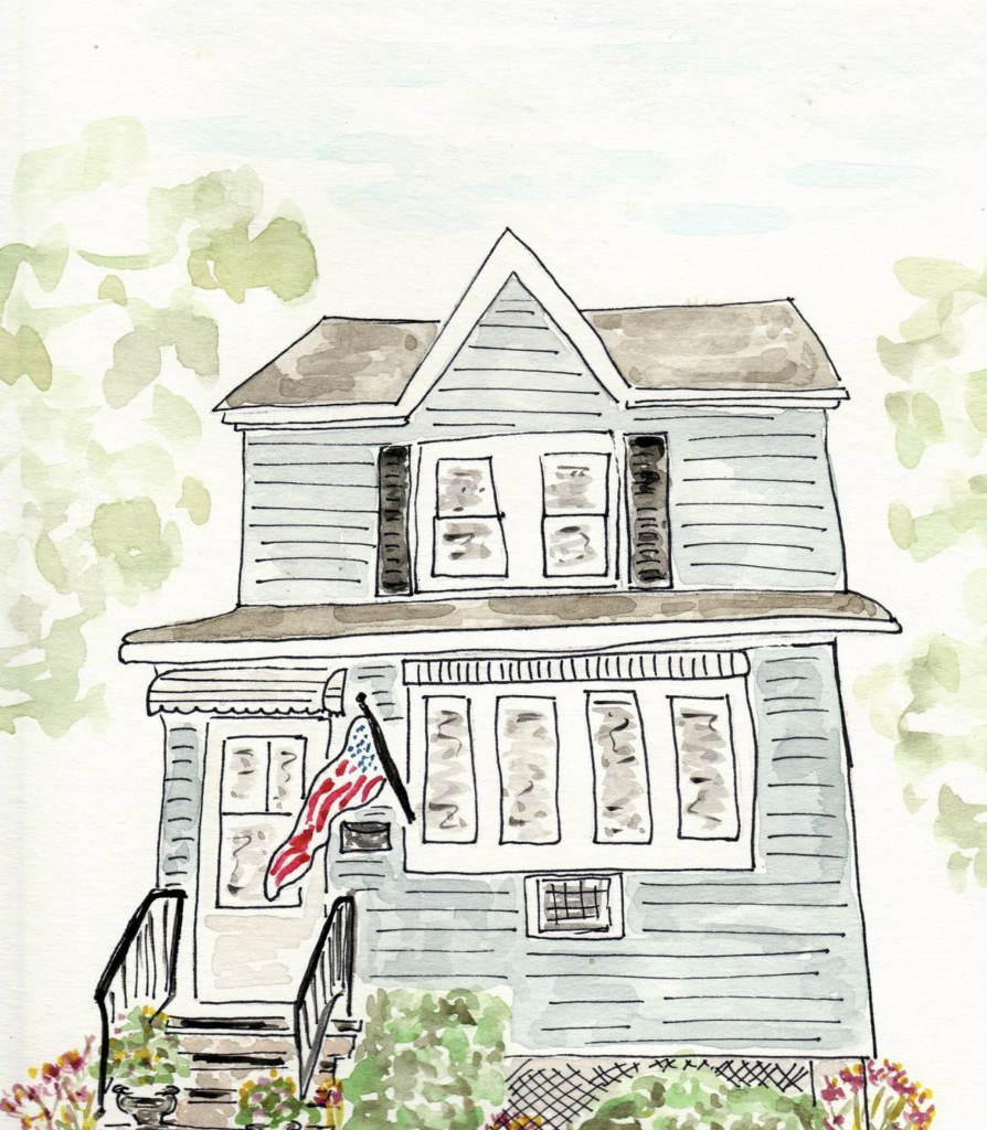 Cleverly Inspired on etsy - custom watercolors of your home and more!