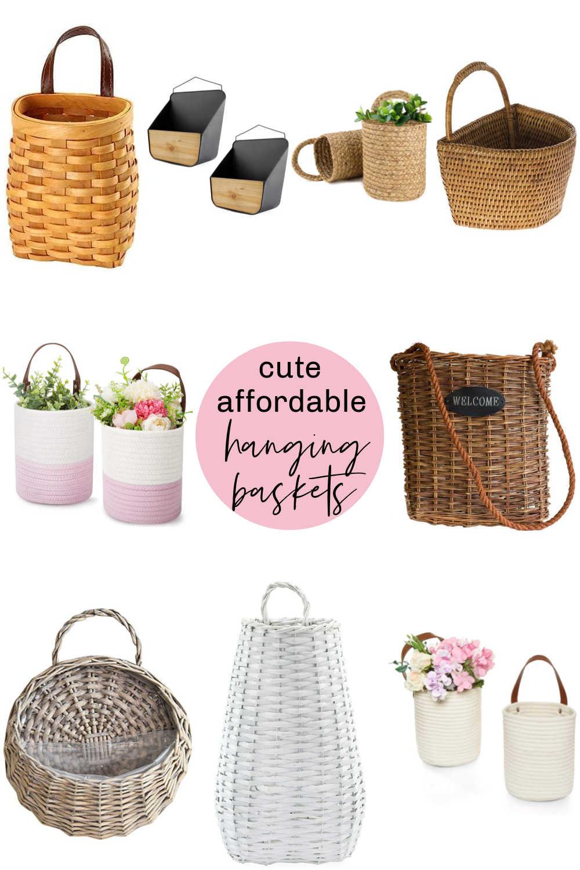 Cute and adorable hanging door baskets.