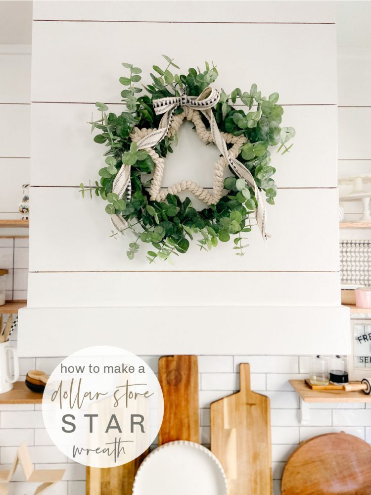 Dollar Store Fourth of July Star Wreath