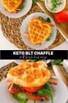 Keto Chaffle BLT Sandwich with herb mayo