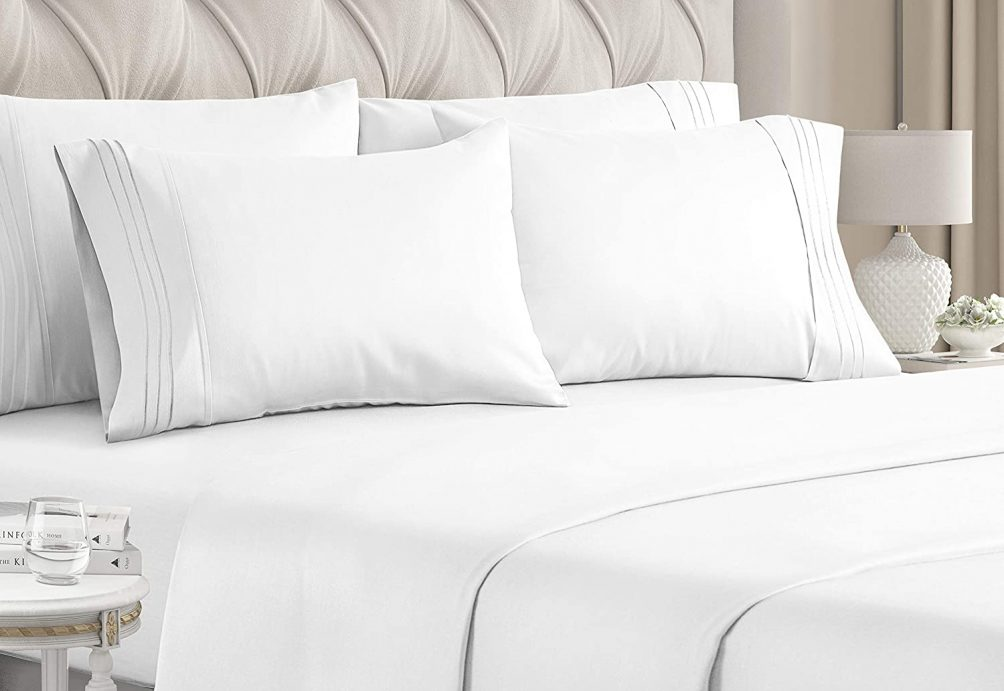 Favorite white sheet set with four pillow cases