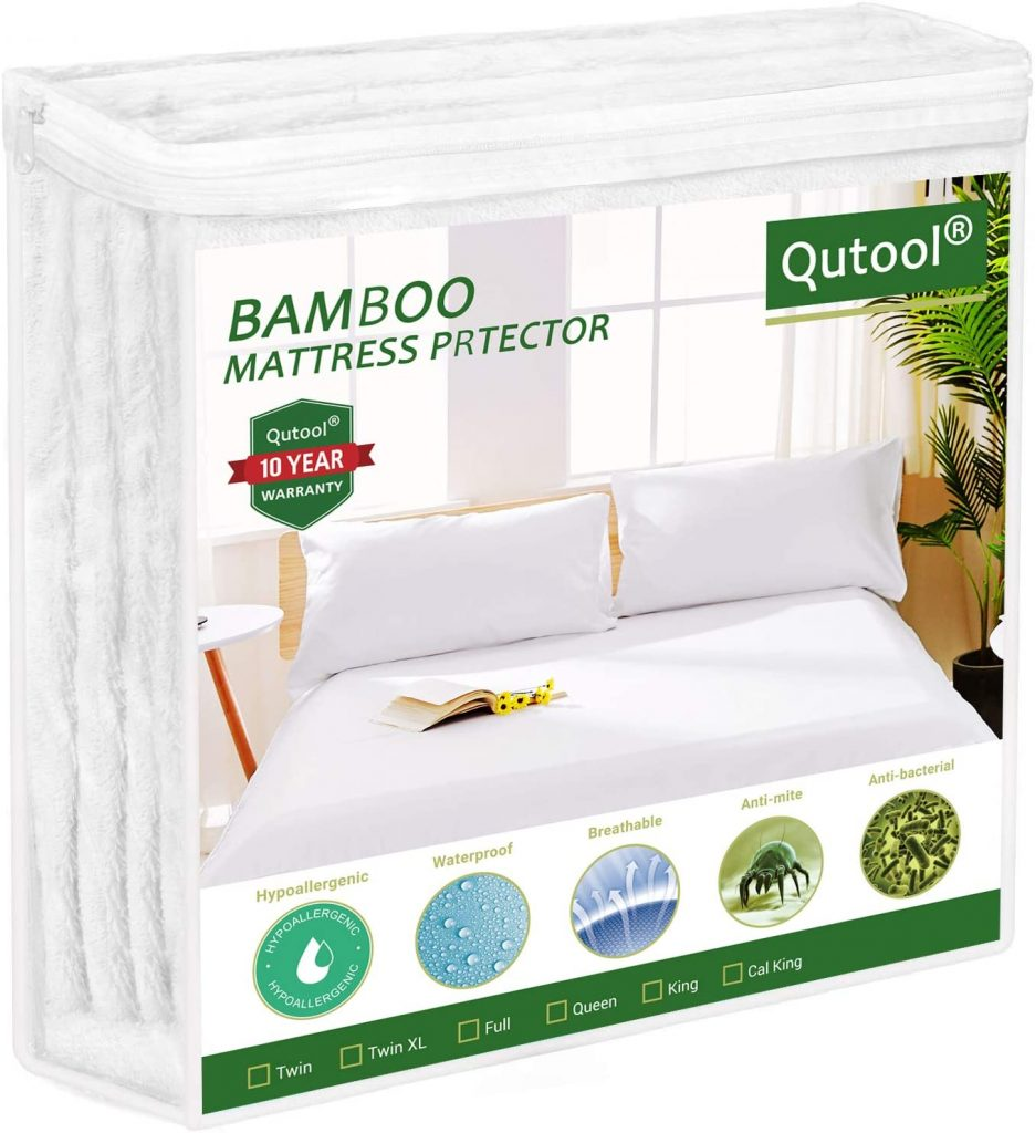 White mattress cover for guest room