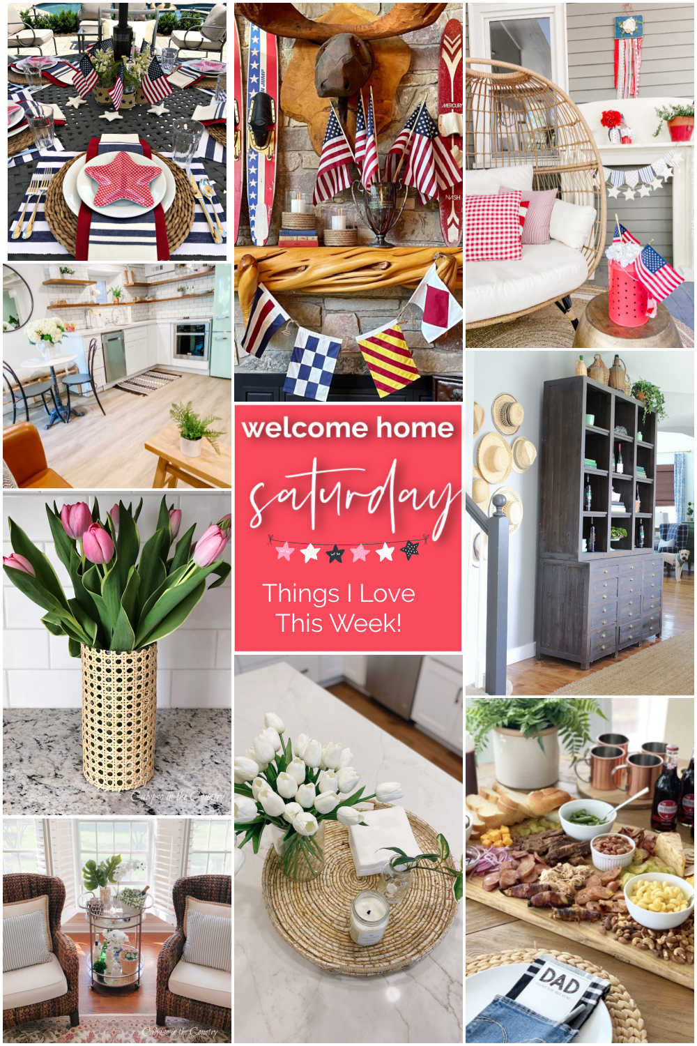Welcome Home Saturday with Calypso in the Country. Things DIY projects and things I love this month for Summer.