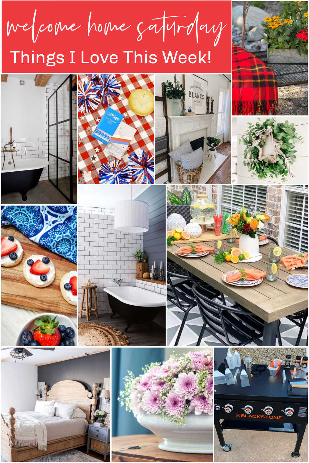 Welcome Home Saturday withSweet Pea. Each Saturday I share a few of my favorite things and some DIY ideas that I love this week!